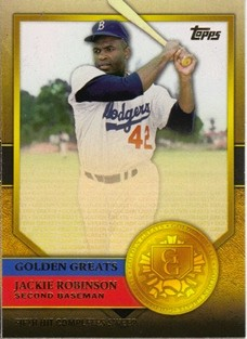 2012 Topps Golden Greats #GG63 Jackie Robinson