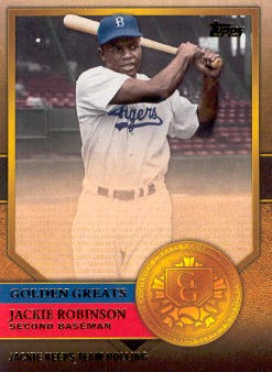 2012 Topps Golden Greats #GG64 Jackie Robinson