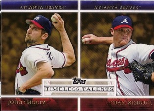 2012 Topps Timeless Talents #TT9 John Smoltz/Craig Kimbrel