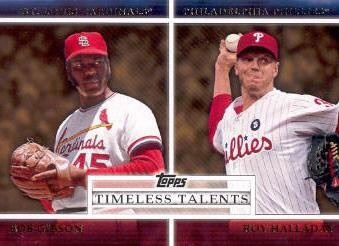 2012 Topps Timeless Talents #TT15 Bob Gibson/Roy Halladay