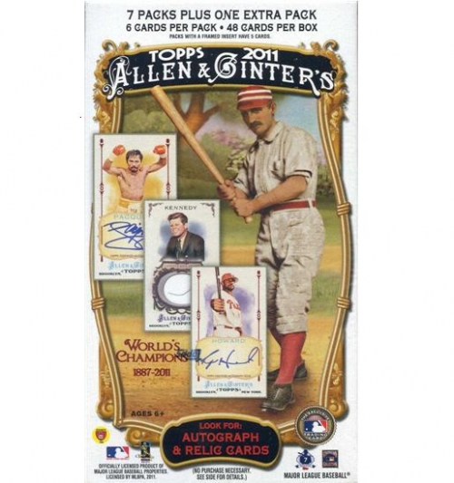 2011 Topps Allen and Ginter Baseball Retail Box