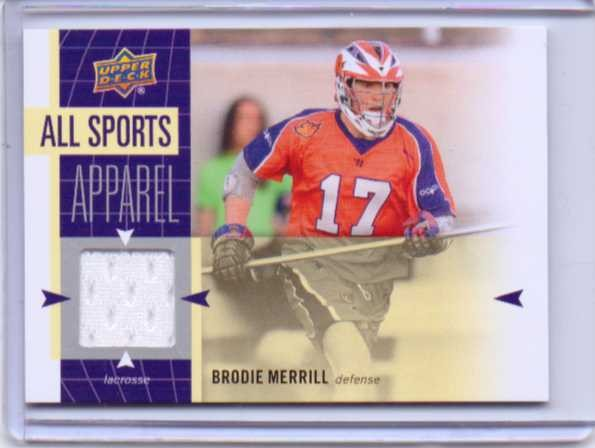 2011 Upper Deck World of Sports All-Sport Apparel Memorabilia #ASBM Brodie Merrill
