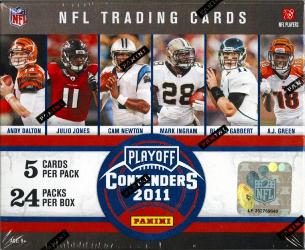 2011 Playoff Contenders Football Hobby Box