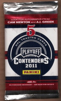 2011 Playoff Contenders Football Hobby Pack