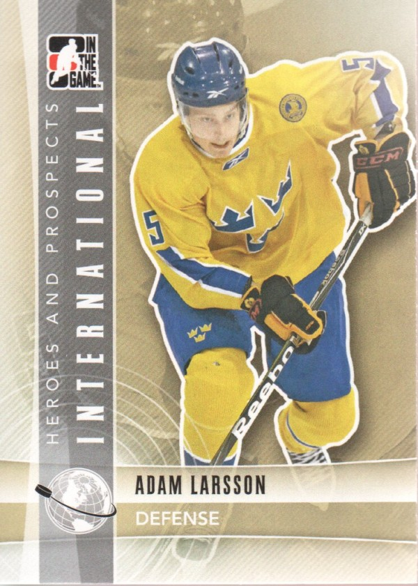 2011-12 ITG Heroes and Prospects #8 Adam Larsson INT
