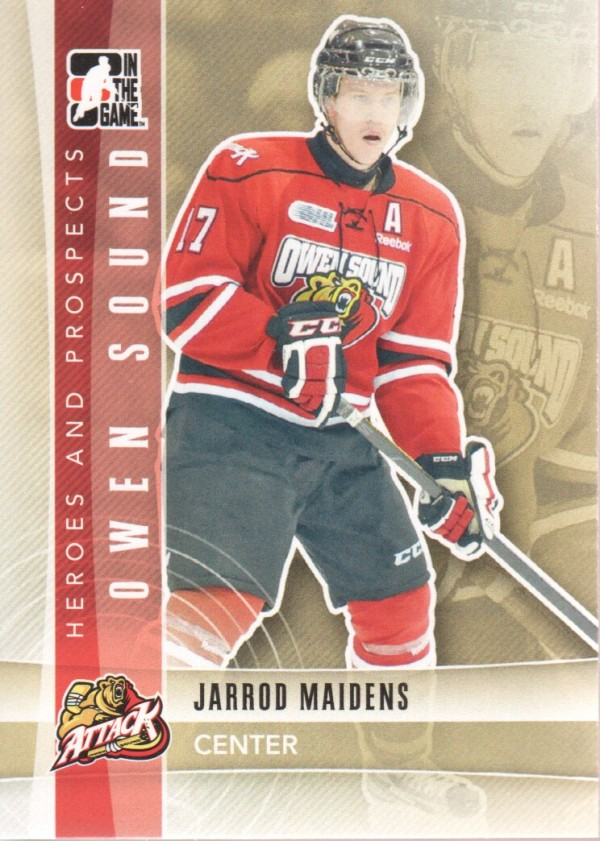 2011-12 ITG Heroes and Prospects #18 Jarrod Maidens CP