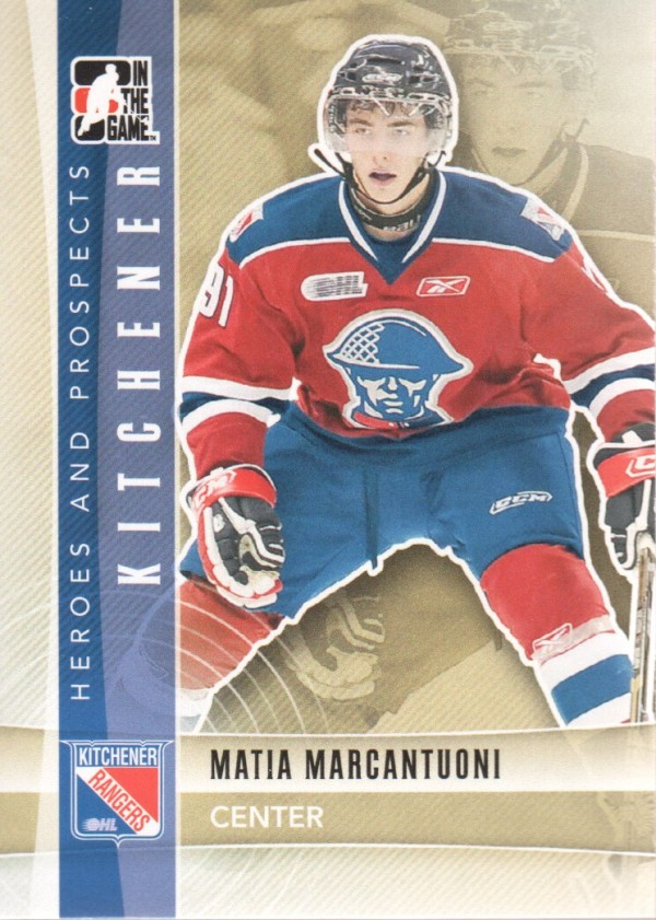 2011-12 ITG Heroes and Prospects #22 Matia Marcantuoni CP