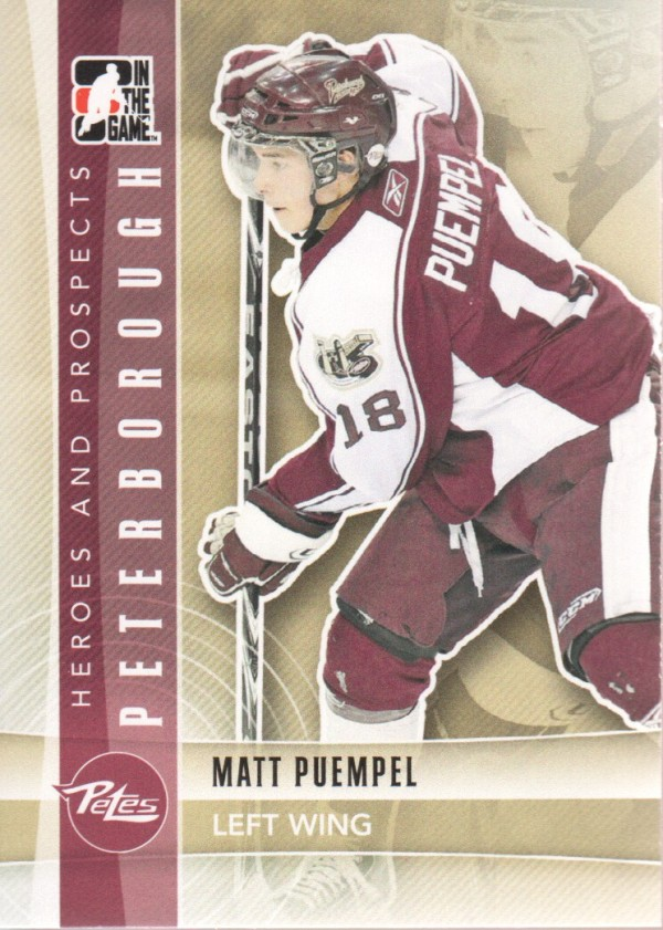 2011-12 ITG Heroes and Prospects #24 Matt Puempel CP