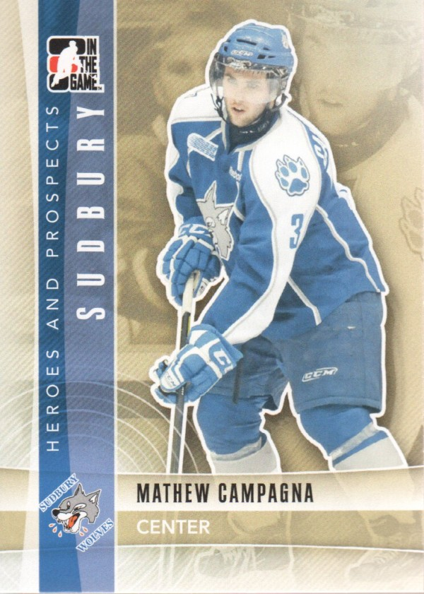 2011-12 ITG Heroes and Prospects #25 Mathew Campagna CP