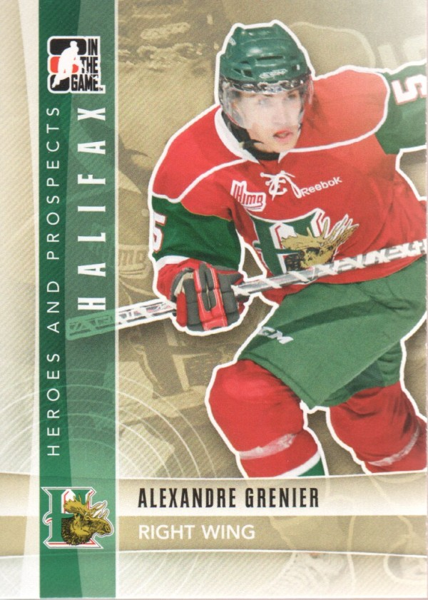 2011-12 ITG Heroes and Prospects #42 Alexandre Grenier CP