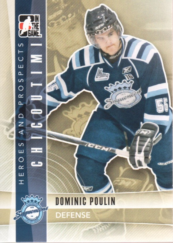2011-12 ITG Heroes and Prospects #48 Dominic Poulin CP