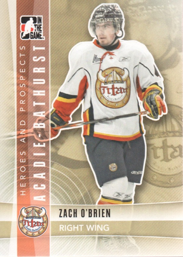 2011-12 ITG Heroes and Prospects #64 Zach O'Brien CP