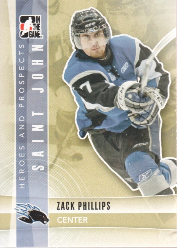 2011-12 ITG Heroes and Prospects #65 Zack Phillips CP