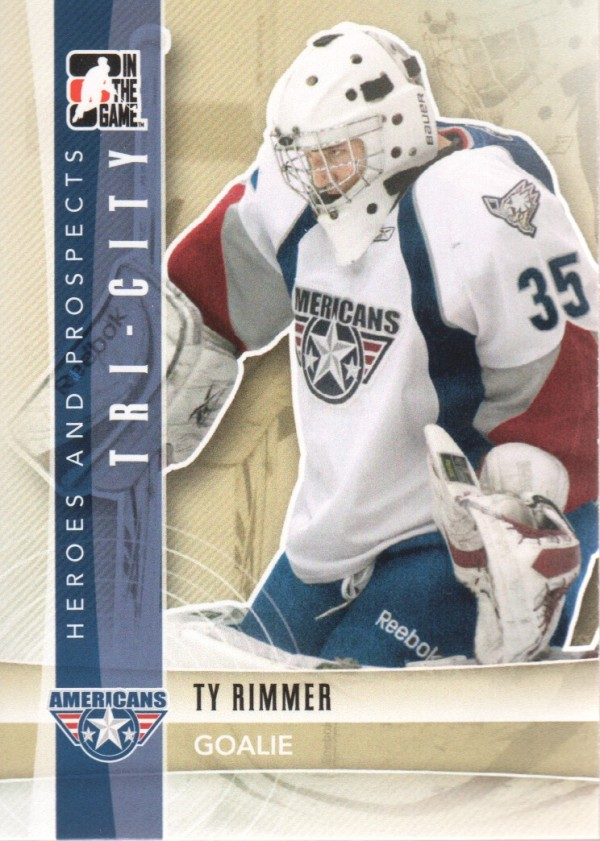 2011-12 ITG Heroes and Prospects #87 Ty Rimmer CP