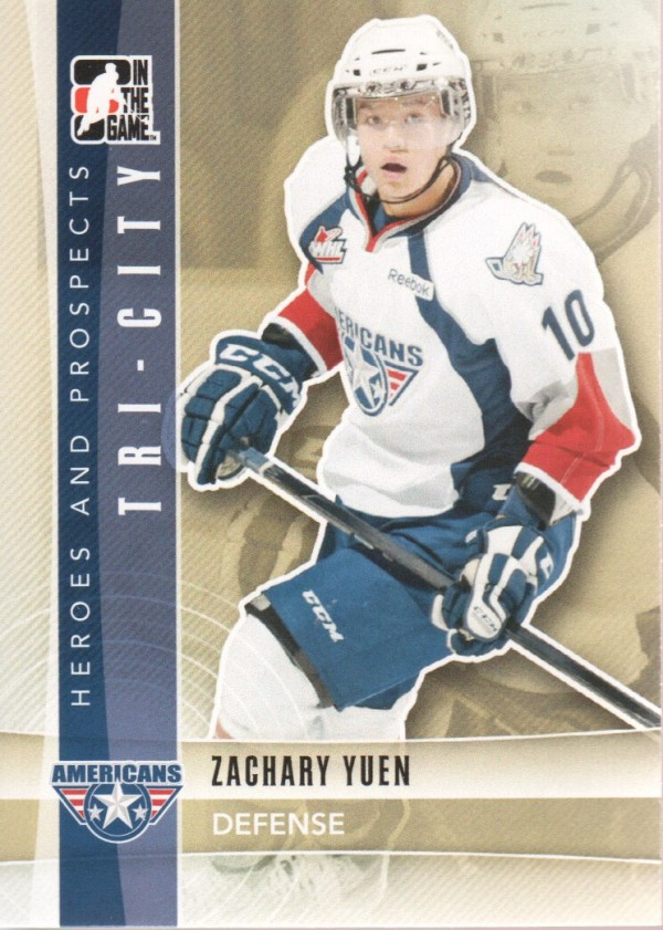 2011-12 ITG Heroes and Prospects #89 Zachary Yuen CP