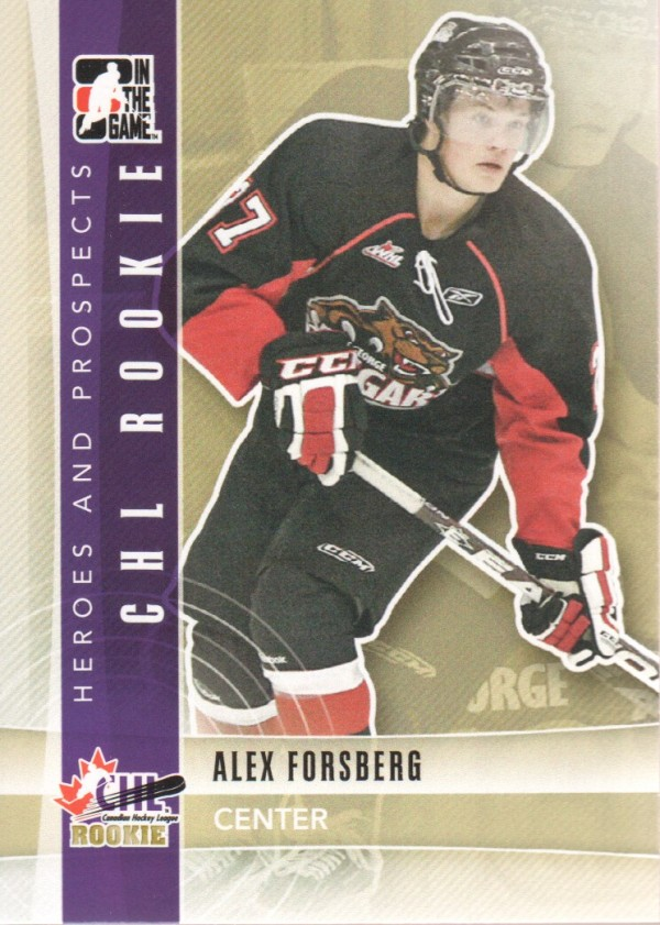 2011-12 ITG Heroes and Prospects #91 Alex Forsberg CR