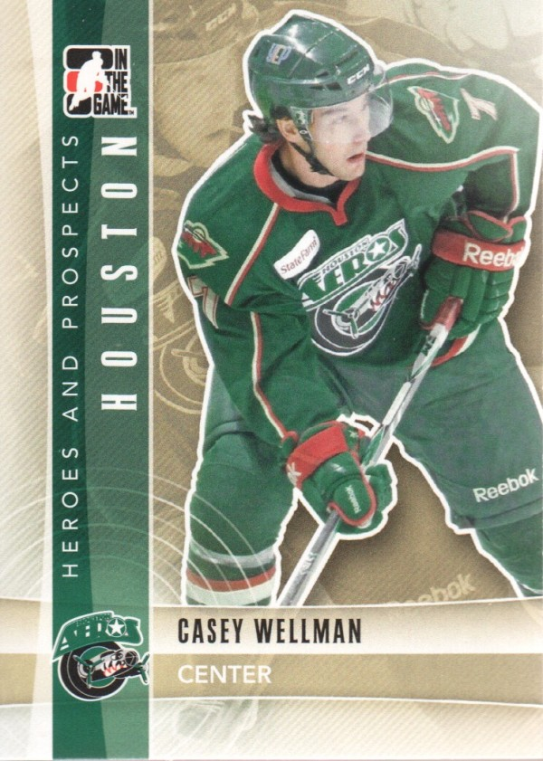 2011-12 ITG Heroes and Prospects #110 Casey Wellman AP