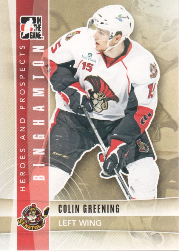2011-12 ITG Heroes and Prospects #111 Colin Greening AP