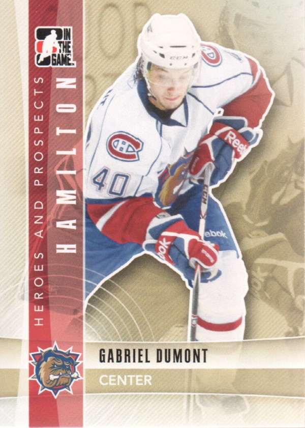 2011-12 ITG Heroes and Prospects #115 Gabriel Dumont AP