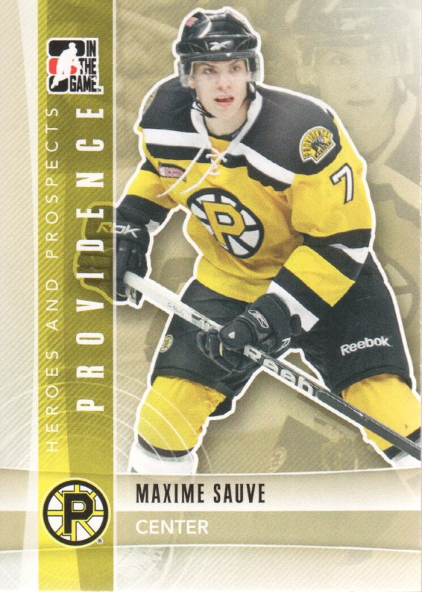 2011-12 ITG Heroes and Prospects #126 Maxime Sauve AP
