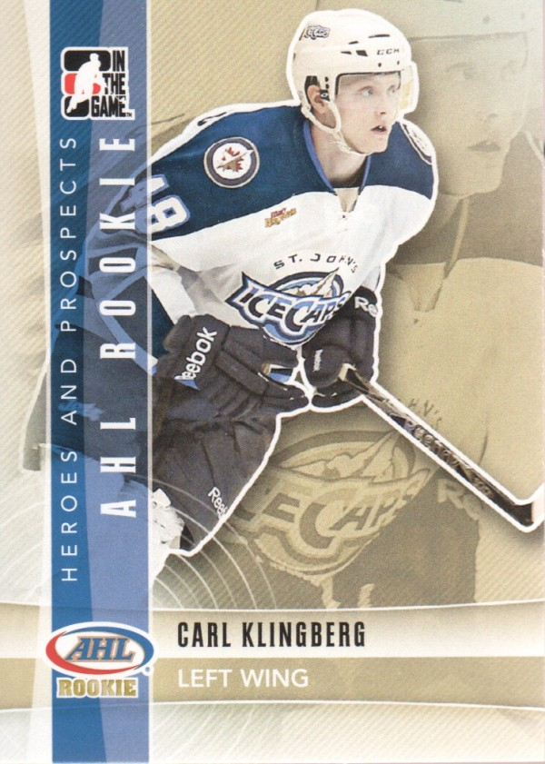 2011-12 ITG Heroes and Prospects #140 Carl Klingberg AR