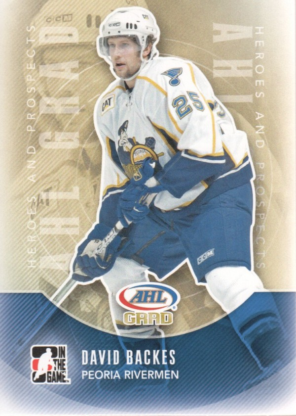 2011-12 ITG Heroes and Prospects #151 David Backes AG