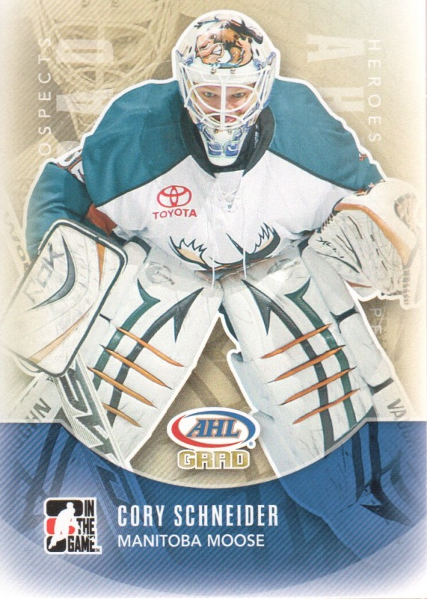 2011-12 ITG Heroes and Prospects #171 Cory Schneider AG