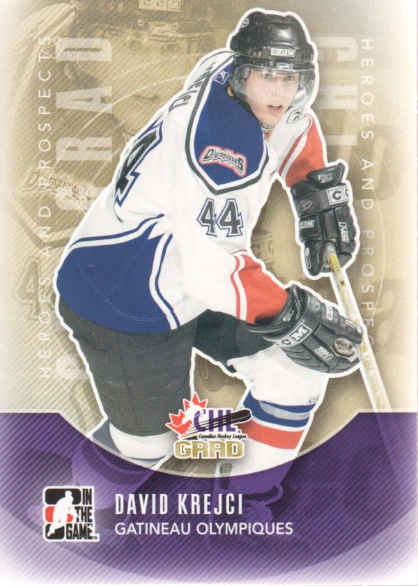 2011-12 ITG Heroes and Prospects #184 David Krejci CG