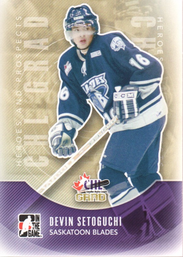 2011-12 ITG Heroes and Prospects #190 Devin Setoguchi CG