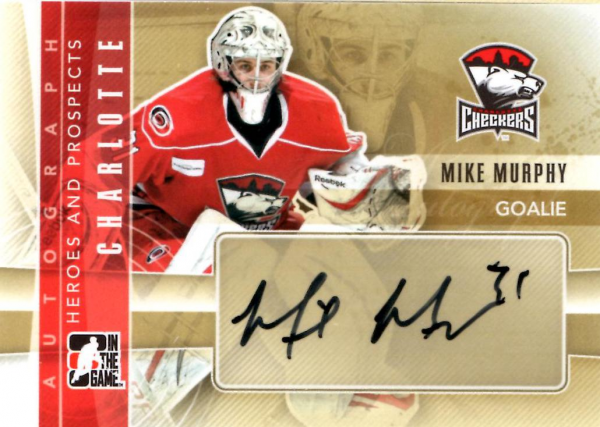 2011-12 ITG Heroes and Prospects Autographs #AMMUR Mike Murphy SP