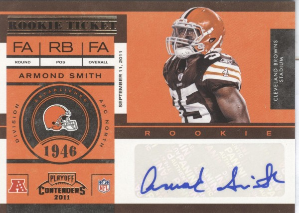 2011 Playoff Contenders #113 Armond Smith AU RC