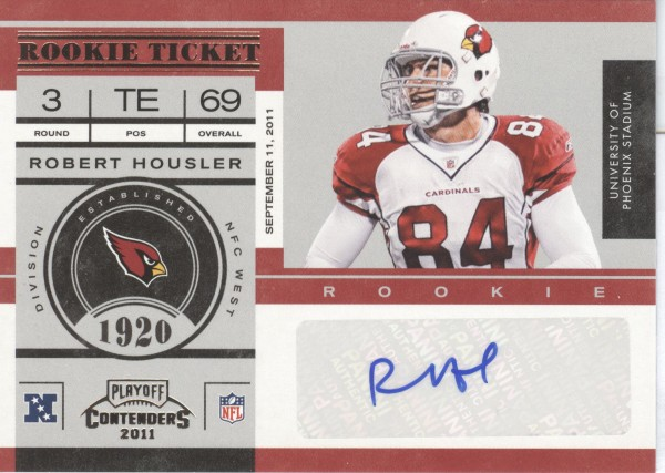 2011 Playoff Contenders #170 Robert Housler AU RC