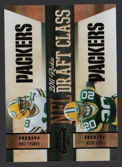 2011 Playoff Contenders Draft Class Black #15 Randall Cobb/Alex Green