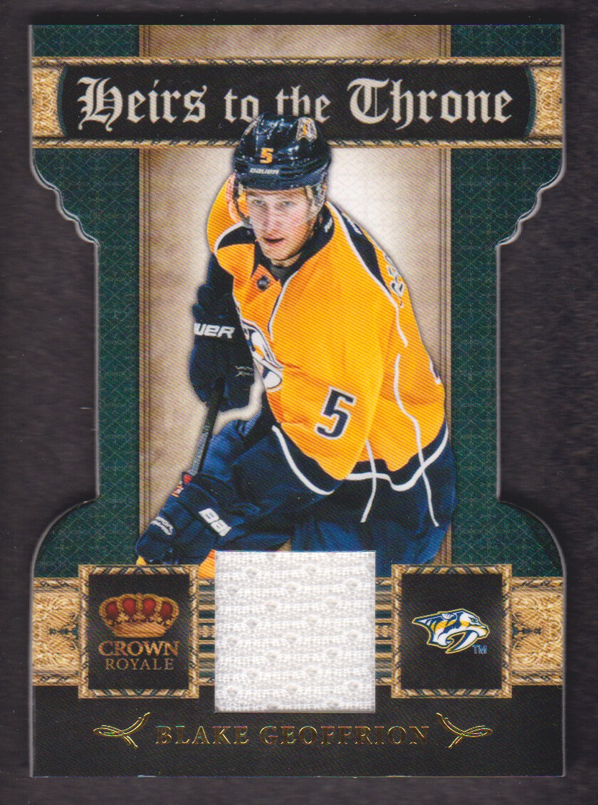 2011-12 Crown Royale Heirs To The Throne Materials #9 Blake Geoffrion