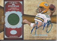 2011 Topps Five Star Veteran Autographed Patch Rainbow #FSSPAR Aaron Rodgers front image