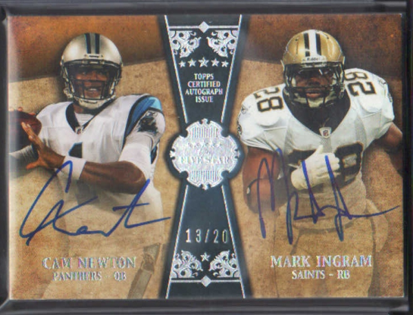 2011 Topps Five Star Dual Rookie Autographs #FSFDANI Cam Newton/Mark Ingram