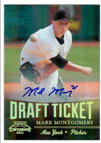 2011 Playoff Contenders Draft Ticket Autographs #DT78 Mark Montgomery
