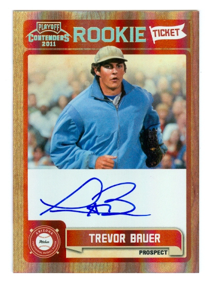 2011 Playoff Contenders Rookie Ticket Autographs #RT8 Trevor Bauer
