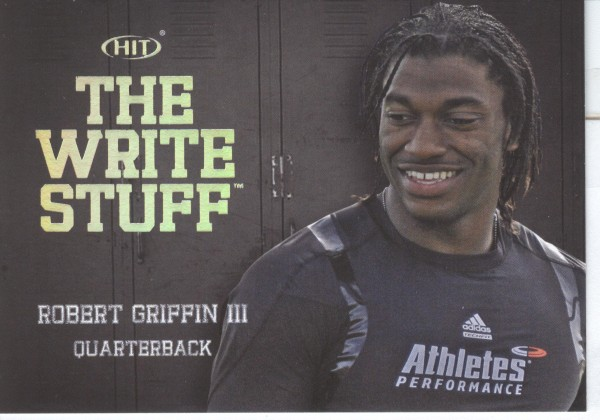 2012 SAGE HIT Write Stuff #WS3 Robert Griffin III