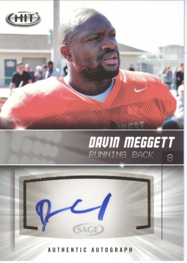 2012 SAGE HIT Autographs Silver #A13 Davin Meggett