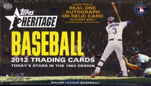 2012 Topps Heritage Baseball Hobby Box