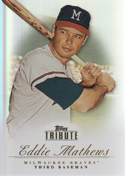 2012 Topps Tribute #12 Eddie Mathews