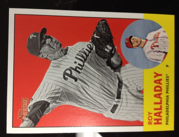 2012 Topps Heritage #91B Roy Halladay BW SP