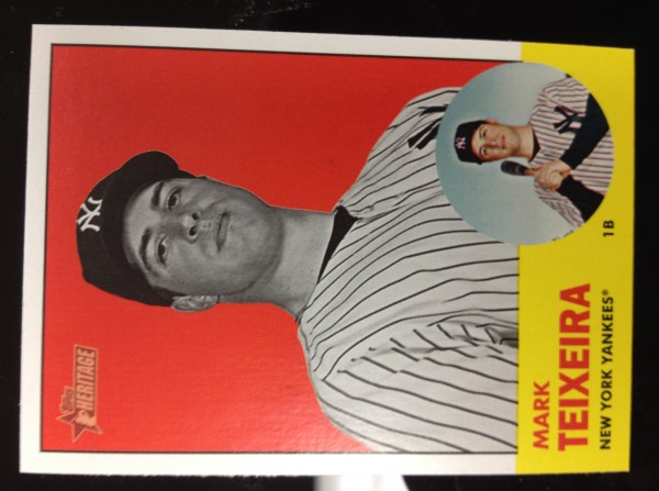 2012 Topps Heritage #183B Mark Teixeira BW SP