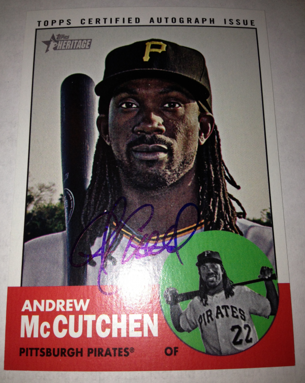 2012 Topps Heritage Real One Autographs #AM Andrew McCutchen