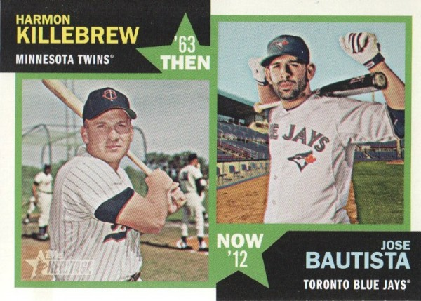 2012 Topps Heritage Then and Now #KB Harmon Killebrew/Jose Bautista