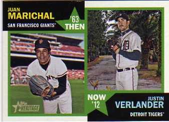 2012 Topps Heritage Then and Now #MV Juan Marichal/Justin Verlander