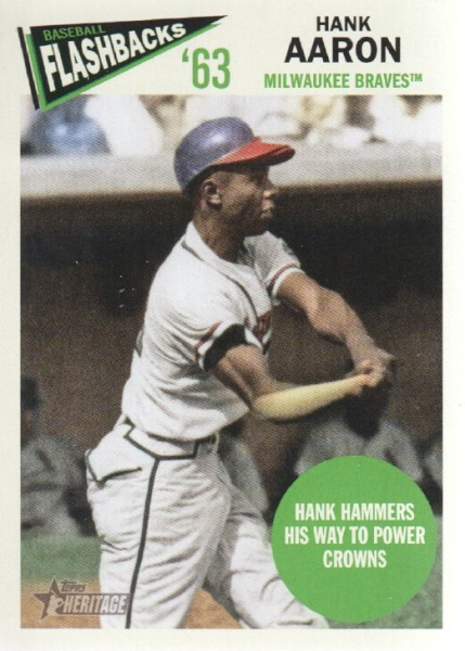2012 Topps Heritage Baseball Flashbacks #HA Hank Aaron
