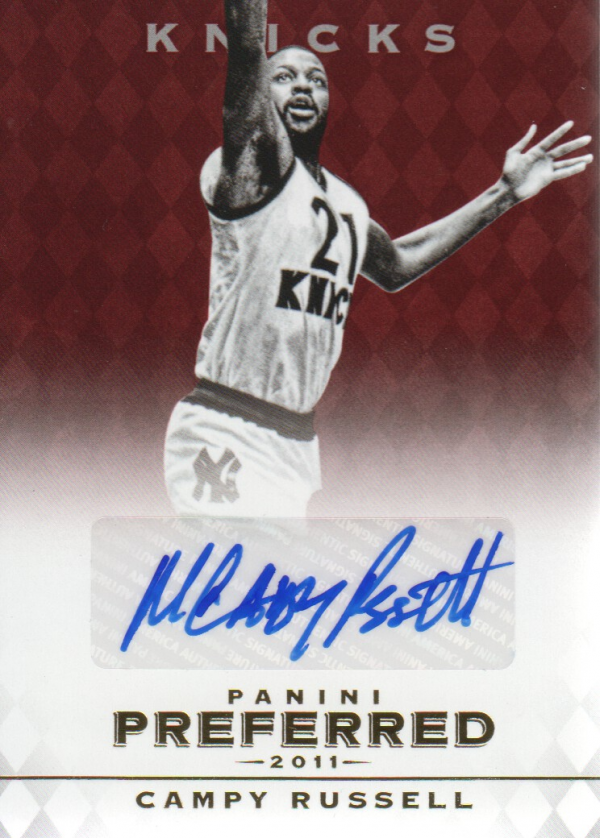 2011-12 Panini Preferred #23 Campy Russell PS/74 AU