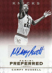 2011-12 Panini Preferred #23 Campy Russell PS/74 AU front image